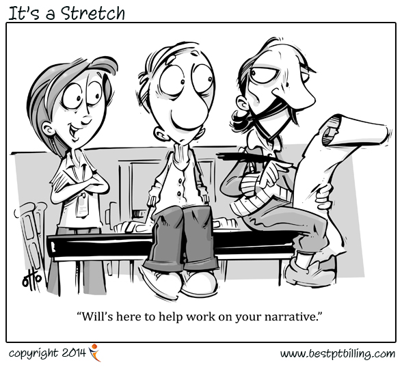 its a stretch physical therapist cartoons