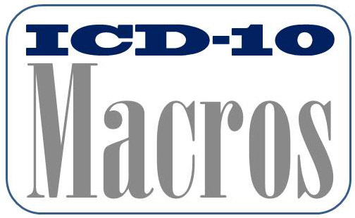 ICD-10 Macros are available for Physical Therapists