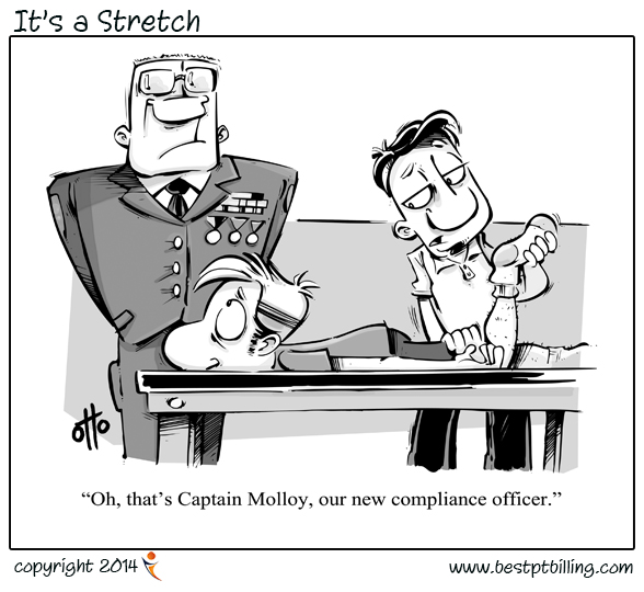It's a Stretch is our physical therapy cartoon.