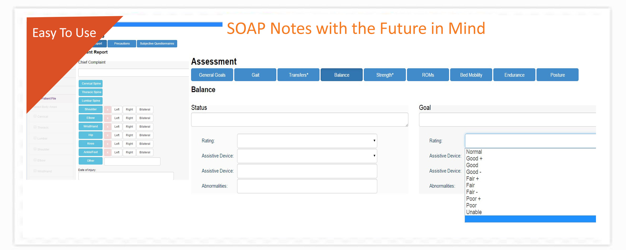 Physical Therapy Documentation and Soap Notes for the future