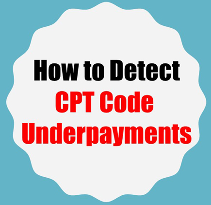 You can detect CPT code underpayments with bestPTbilling.com